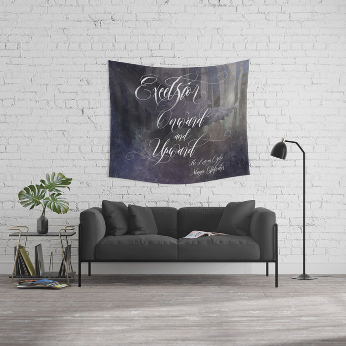 Excelsior. The Raven Boys Quote Wall Tapestry - LitLifeCo.