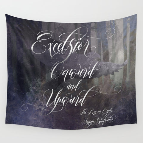 Excelsior... The Raven Boys Quote Wall Tapestry - LitLifeCo.