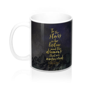 To the stars who listen... Rhysand Quote Mug - LitLifeCo.