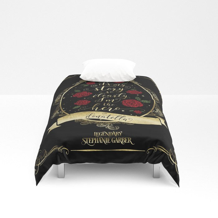 It's my story so clearly I'm the hero. Tella Quote Duvet Cover - LitLifeCo.