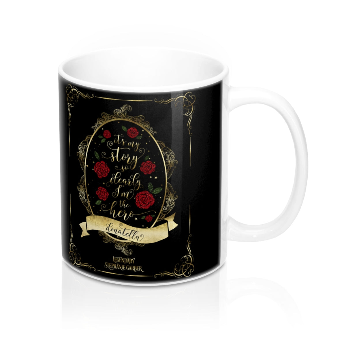 It's my story so clearly I'm the hero. Tella Quote Mug - LitLifeCo.
