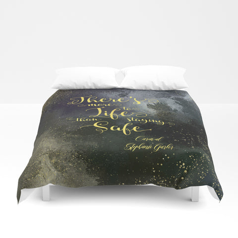 There's more to life... Caraval Quote Duvet Cover