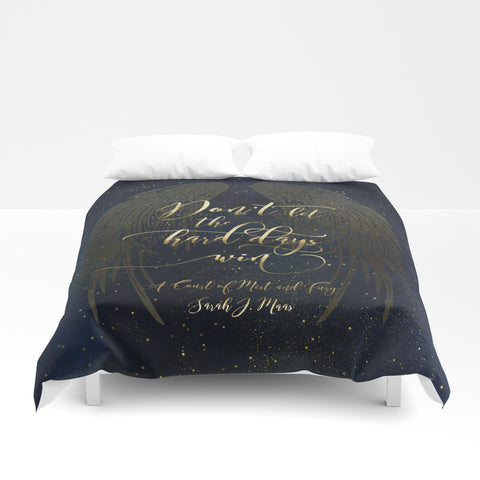 Don't let the hard days win. A Court of Mist and Fury (ACOMAF) Quote Duvet Cover - LitLifeCo.