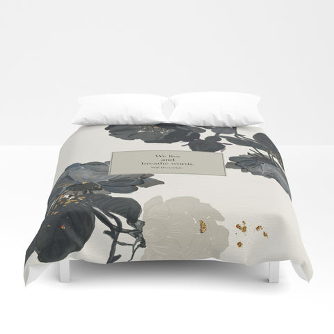We live and breathe words. Will Herondale Quote Duvet Cover - LitLifeCo.