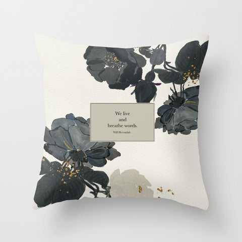 We live and breathe words. Will Herondale Quote Pillow - LitLifeCo.