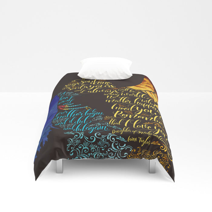 Your soul sings to mine... Daughter of Smoke and Bone Quote Duvet Cover - LitLifeCo.
