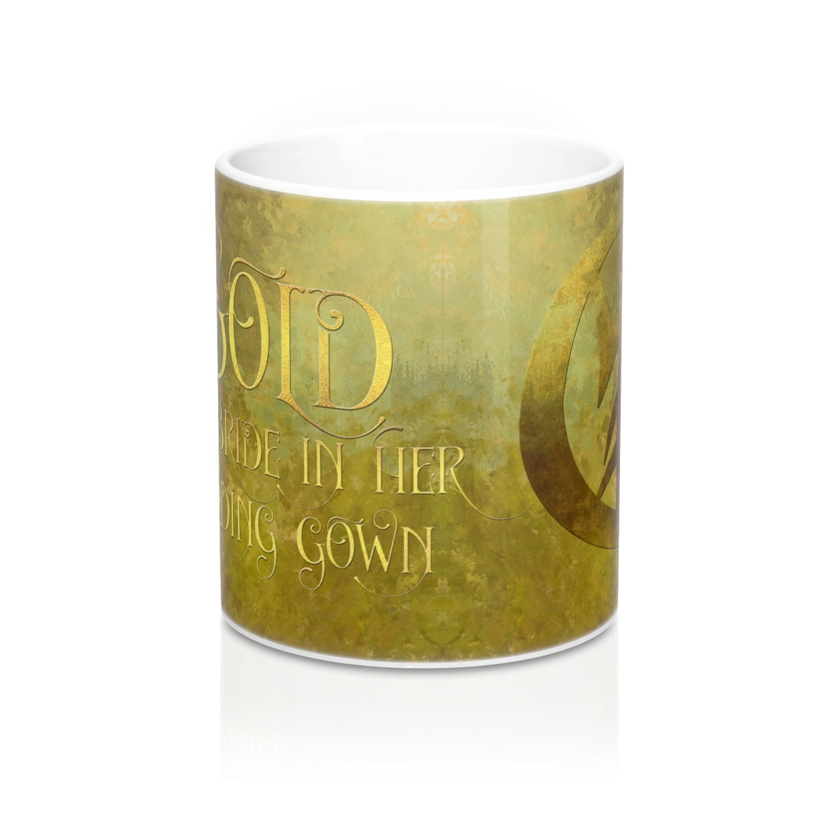GOLD for a bride in her wedding gown. Shadowhunter Children's Rhyme Mug - LitLifeCo.