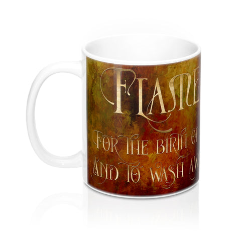 FLAME for the birth of a Nephilim. Shadowhunter Children's Rhyme Mug - LitLifeCo.