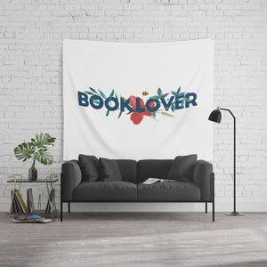 BOOKLOVER Floral Wall Tapestry - LitLifeCo.