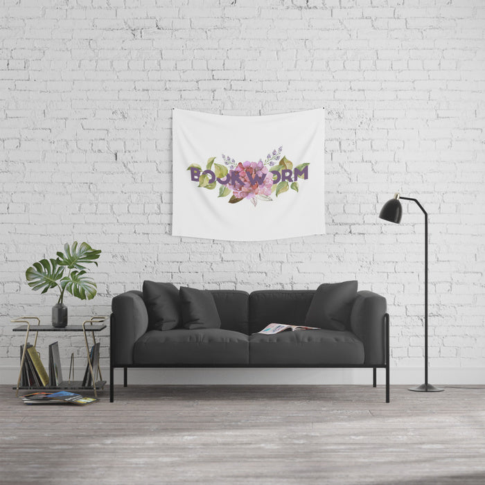 BOOKWORM Floral Wall Tapestry - LitLifeCo.