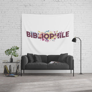 BIBLIOPHILE Floral Wall Tapestry - LitLifeCo.