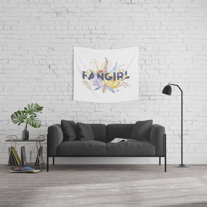 FANGIRL Floral Wall Tapestry - LitLifeCo.