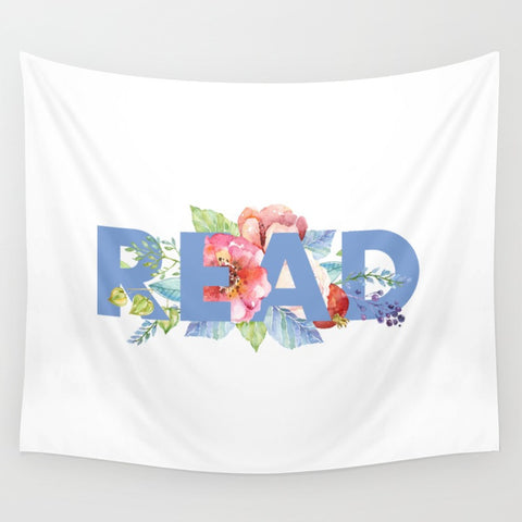 READ Floral Wall Tapestry - LitLifeCo.