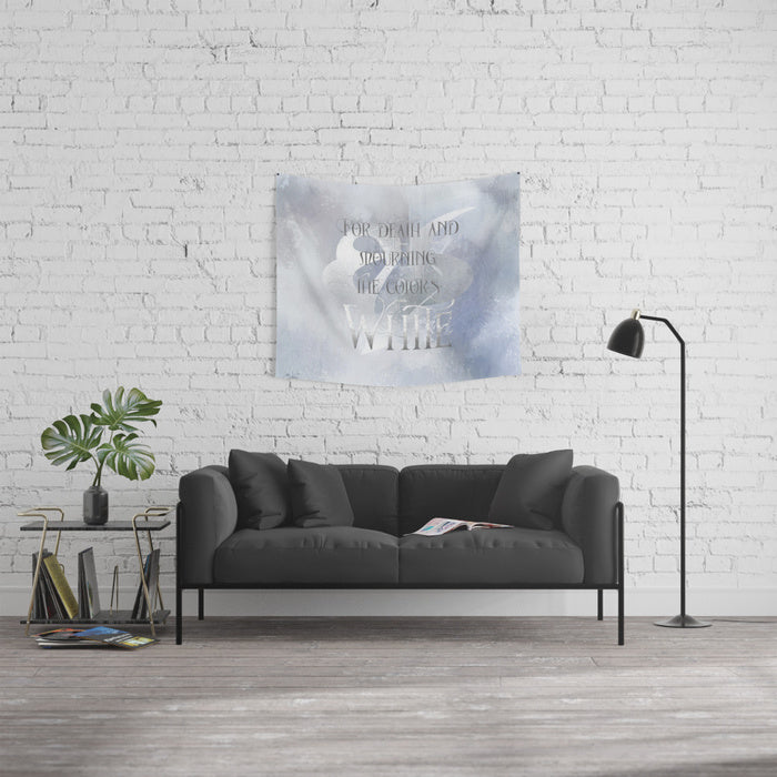 For death and mourning the color's WHITE. Shadowhunter Children's Rhyme Quote Wall Tapestry - LitLifeCo.