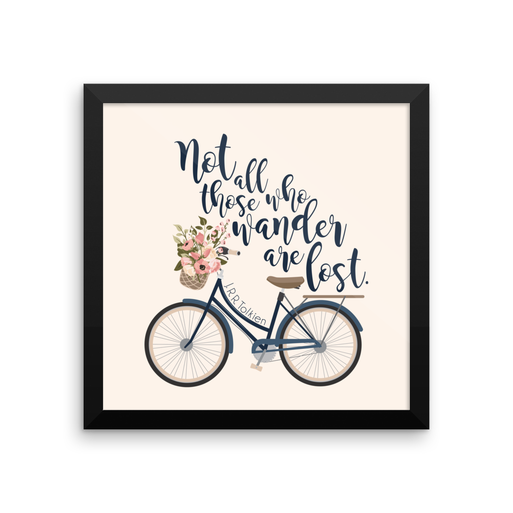 Not all those who wander... Lord of the Rings Art Print - Literary Lifestyle Company