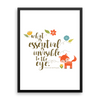What is essential... The Little Prince Quote Art Print - LitLifeCo.