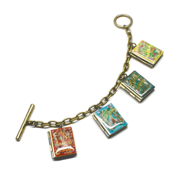 Puffin in Bloom Book Bracelet - LitLifeCo.