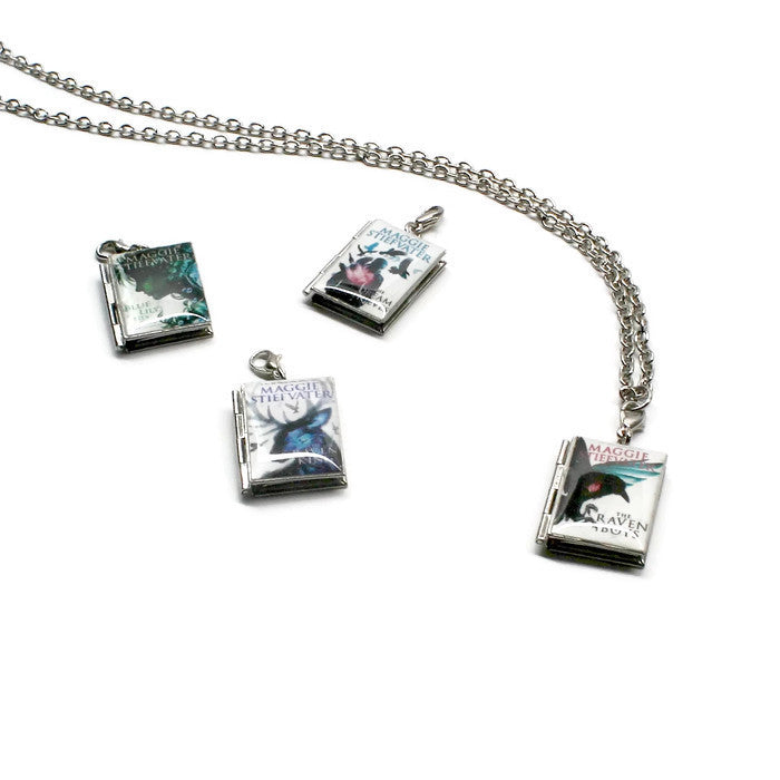 The Raven Cycle (The Raven Boys Series) Interchangeable Book Locket Necklace - LitLifeCo.