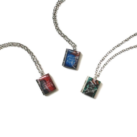 A Court of Thorns and Roses Series (ACOTAR/ACOMAF/ACOWAR) Book Necklace - LitLifeCo.