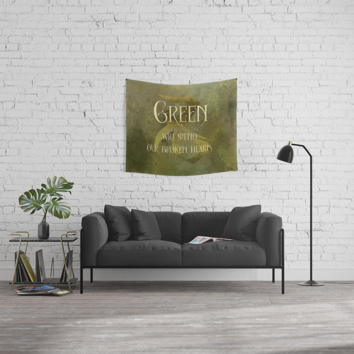GREEN will heal our broken hearts. Shadowhunter Children's Rhyme Wall Tapestry - LitLifeCo.
