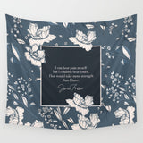 I can bear pain myself... Jamie Fraser Quote Wall Tapestry