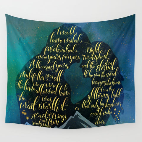 The wait was worth it. A Court of Wings and Ruin (ACOWAR) Wall Tapestry - LitLifeCo.