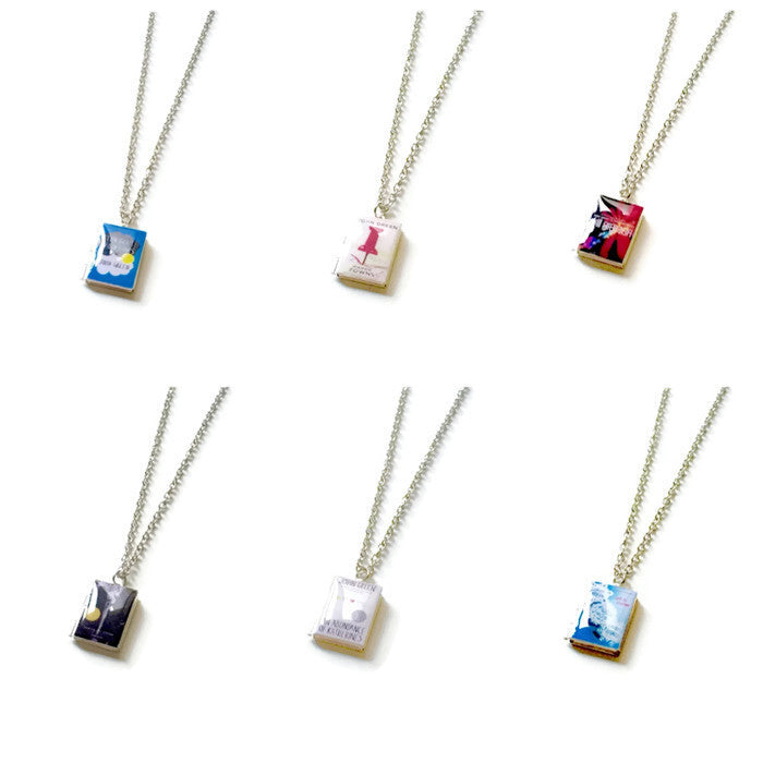 John Green Collection Book Necklace - LitLifeCo.