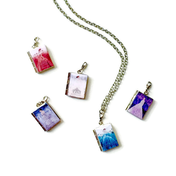 The Selection Series Interchangeable Book Locket Necklace - LitLifeCo.