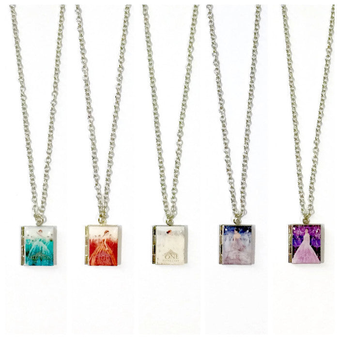 The Selection Series Book Necklace - Literary Lifestyle Company