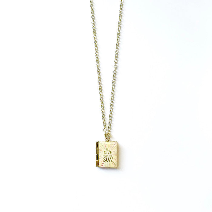I'll Give You The Sun Book Necklace - LitLifeCo.