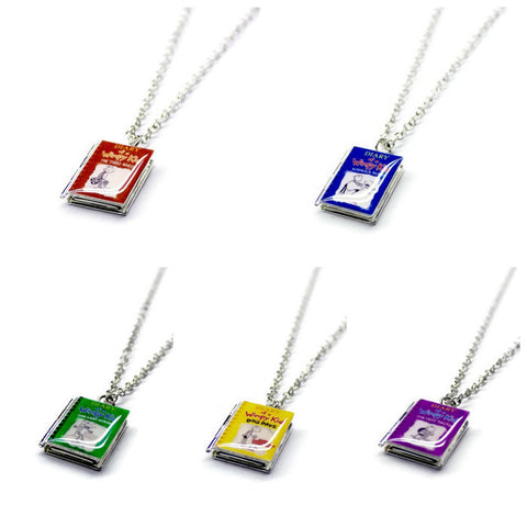 Diary of a Wimpy Kid Series Book Necklace - LitLifeCo.