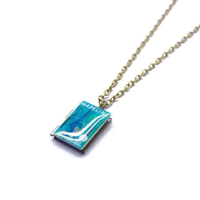 Madeline Book Necklace - LitLifeCo.