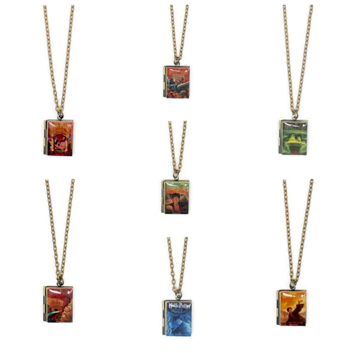 Harry Potter book necklace