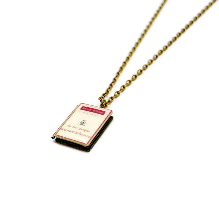The Five People You Meet In Heaven Book Necklace - LitLifeCo.