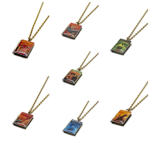 Harry Potter Series Book Necklace - LitLifeCo.