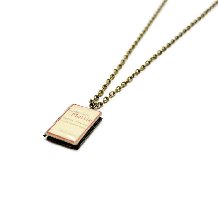 Tuesdays with Morrie Book Necklace - LitLifeCo.