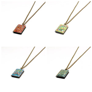 Puffin in Bloom Series Book Necklace - LitLifeCo.
