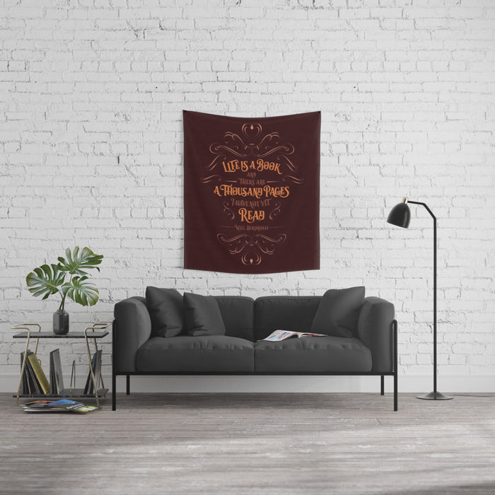 Life is a book... Will Herondale Quote Wall Tapestry