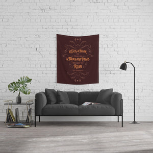 Life is a book... Will Herondale Quote Wall Tapestry - LitLifeCo.