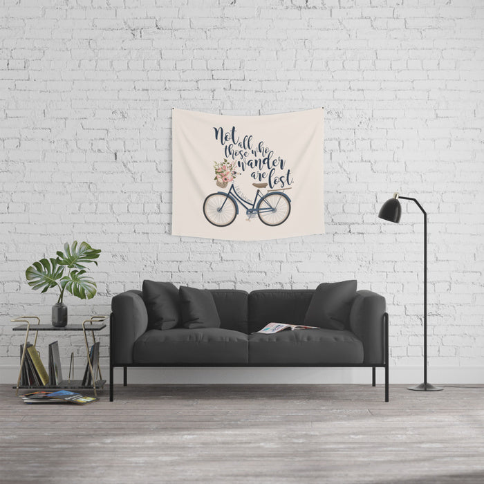 Not all those who wander... Lord of the Rings Quote Wall Tapestry