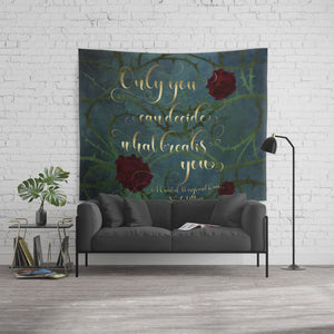 Only you... A Court of Wings and Ruin (ACOWAR) Quote Wall Tapestry - LitLifeCo.