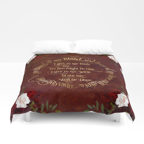 Outlander Wedding Vows Duvet Cover