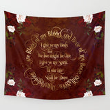Outlander Wedding Vows Wall Tapestry