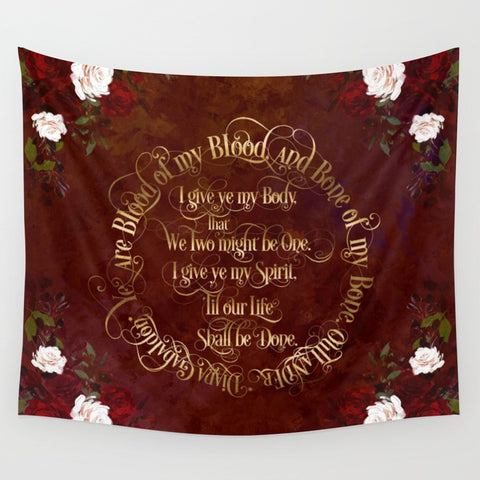 Outlander Wedding Vows Wall Tapestry - LitLifeCo.