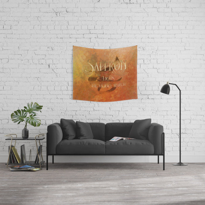 SAFFRON lights the victory march. Shadowhunter Children's Rhyme Wall Tapestry - LitLifeCo.