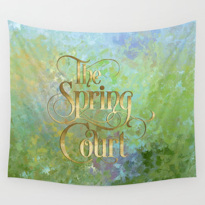 The Spring Court Wall Tapestry - LitLifeCo.