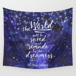 The world will be saved... Throne of Glass Quote Wall Tapestry - LitLifeCo.