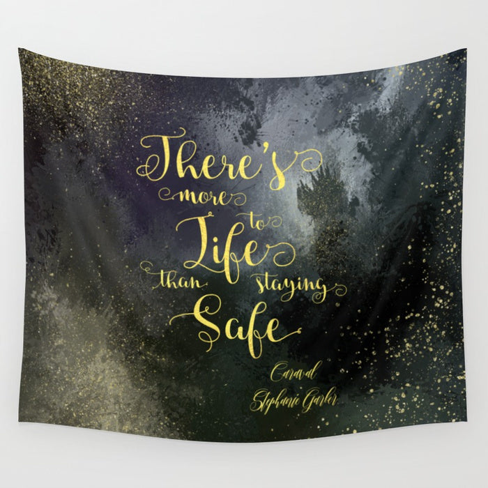 There's more to life... Caraval Quote Wall Tapestry - LitLifeCo.