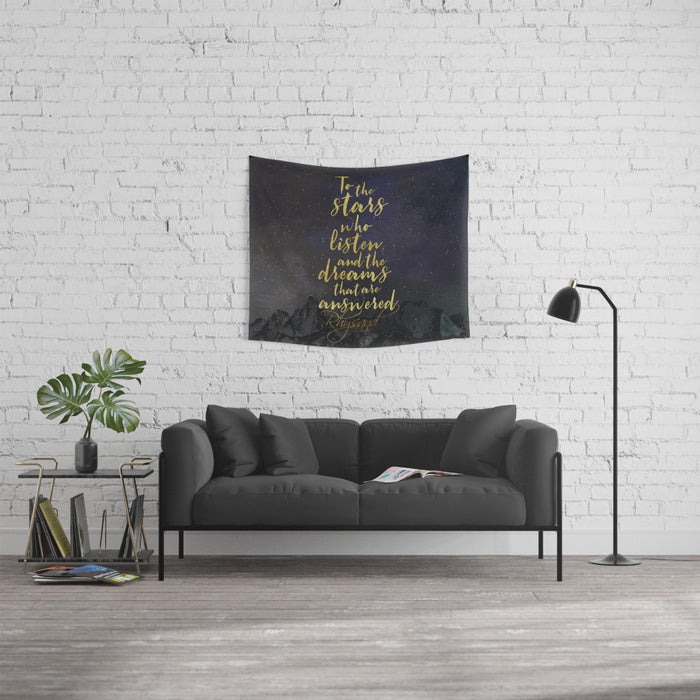 To the stars who listen... A Court of Mist and Fury (ACOMAF) Quote Wall Tapestry