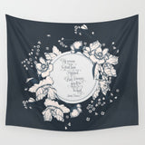 Ye werena the first lass I kissed... Jamie Fraser Quote Wall Tapestry